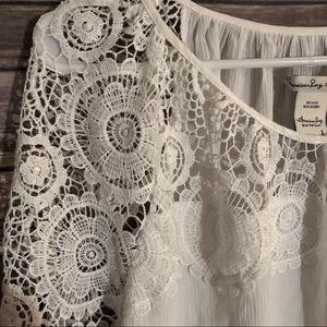 American Rag Tops - American rag white lace blouse